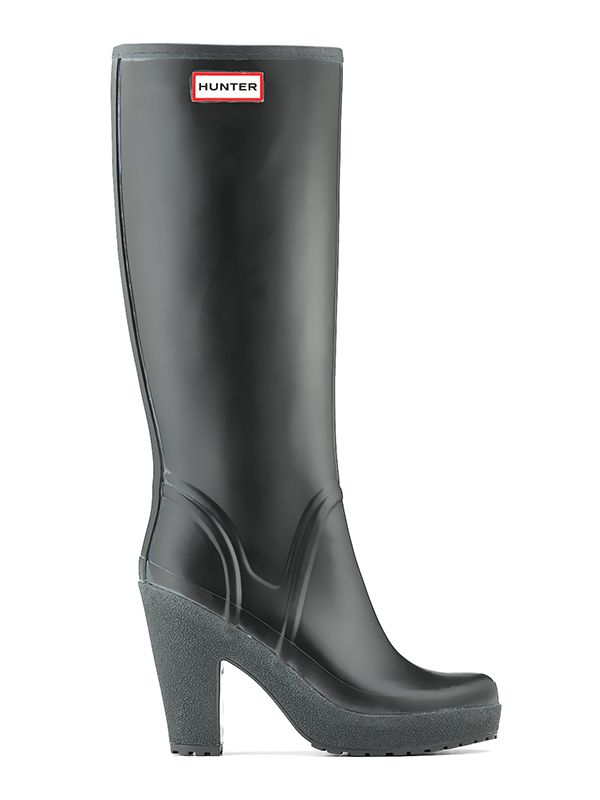 Womans High Heel Rain Boots Rubber Boots Hunter Boot