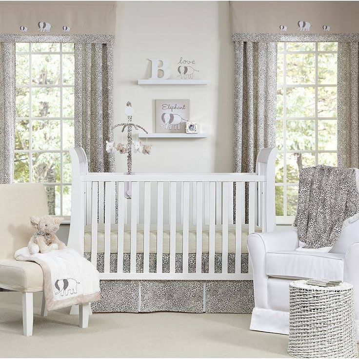 Sweet Safari 5 Piece Neutral Baby Crib Bedding Set by Wendy Bellissimo