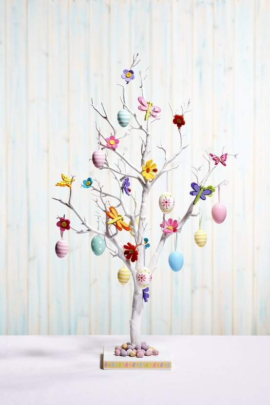 Hobbycraft easter white tree easter whitetree How to make an easter egg tree