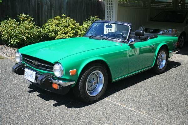 Immaculate Java Green Triumph Tr6 Carbitrage Pinterest