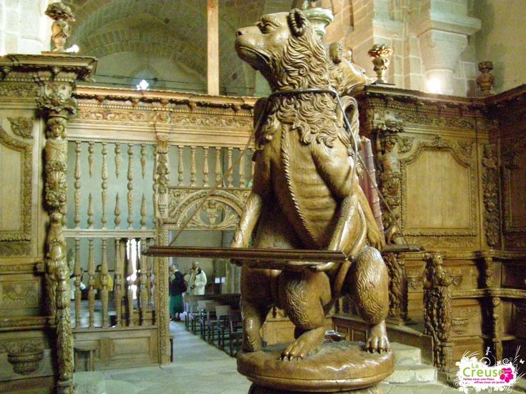 Boiseries de l'église du Moutier d'Ahun - Préparez vos vacances dans la Creuse : www.tourismecreuse.com -  ADRT23©
