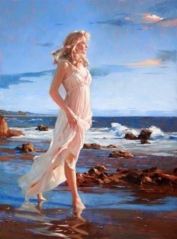 Original Painting, Ocean's Grace by Richard Johnson