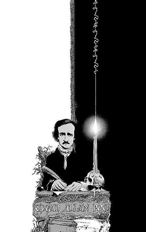 El padre del romanticismo oscuro por el talentoso ilustrador de horror comics: Richard Corben.-15 Ilustraciones tributo al romántico más oscuro: Edgar Allan Poe
