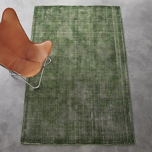 scatter green rug 5'x8' | CB2