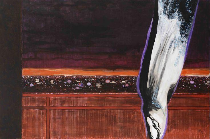 Jiří Hauschka: Veil and Mountain, 2014, acrylic on canvas, 100 x 150 cm