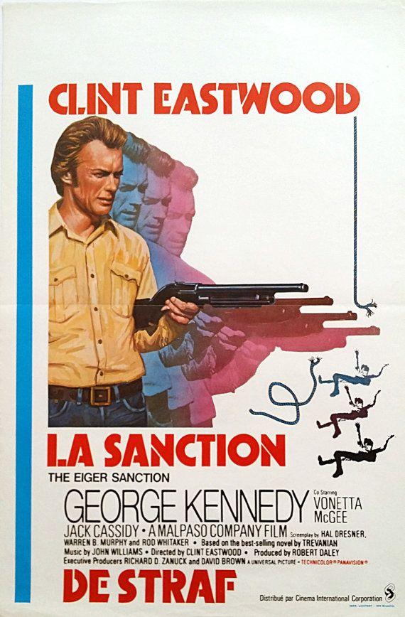 1975 The Eiger Sanction Movie Poster  Original by OutofCopenhagen