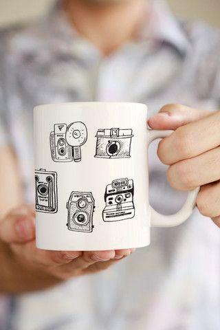 Vintage Camera Set Mug. For more photographer gift ideas visit http://leimomi.com.au/