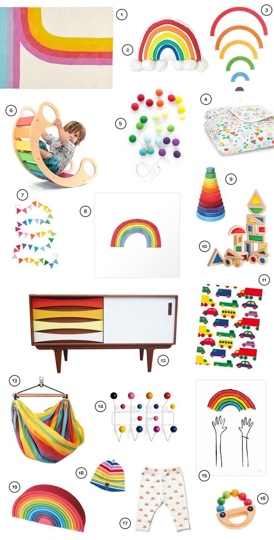 Cozy Feminine Girlu0027s Nursery | Newborn Photography | 100 Layer Cakelet · Rainbow  BedroomRainbow ...