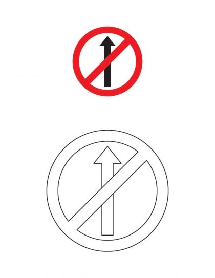 No entry traffic sign coloring page | Download Free No entry traffic sign coloring page for kids | Best Coloring Pages
