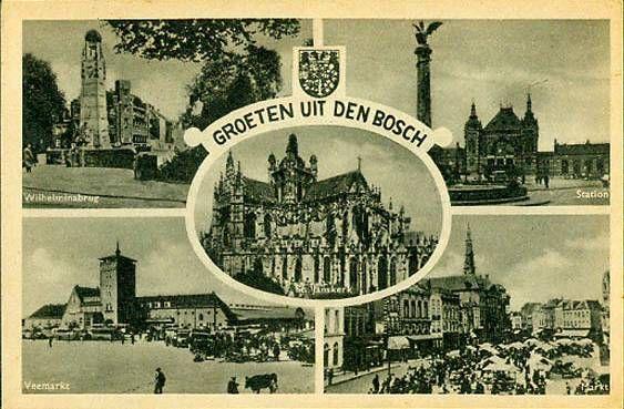 1948  ansichtkaart  Groeten uit Den Bosch