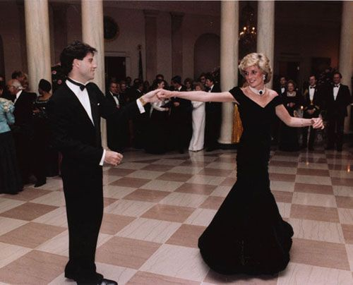John Travolta dancing with Princess Diana