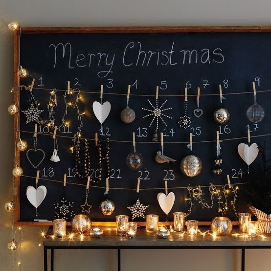 The Chalkboard Advent Calendar | 33 Clever And Adorable DIY Advent Calendars