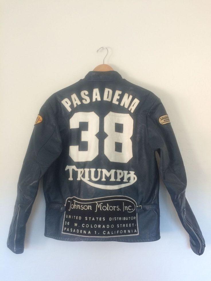Original Johnson Motors Triumph Motorcycle Race Jacket