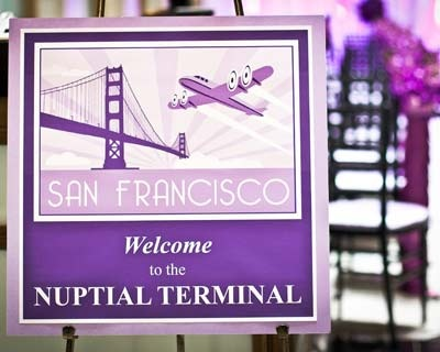 Event Signage--Welcoming Sign for a couple who meet at the airport!