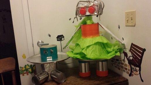 Robot Mama and Baby Cupcake Trays