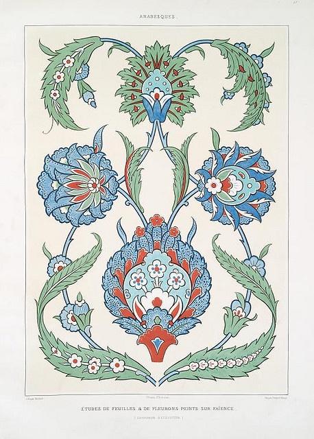études de feuilles  de fleurons peints sur faïence (grandeur d'exécution) by peacay, via Flickr