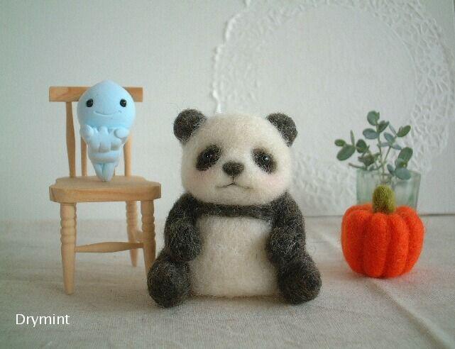 パンダのほんわかハロウィン*羊毛フェルトハンドメイド - 羊毛フェルトで手作り&小さな庭