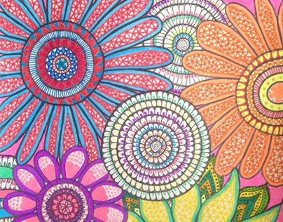 """Check out new work on my @Behance portfolio: """"Flores, flores y más colores. """" http://be.net/gallery/33652306/Flores-flores-y-mas-colores-"""