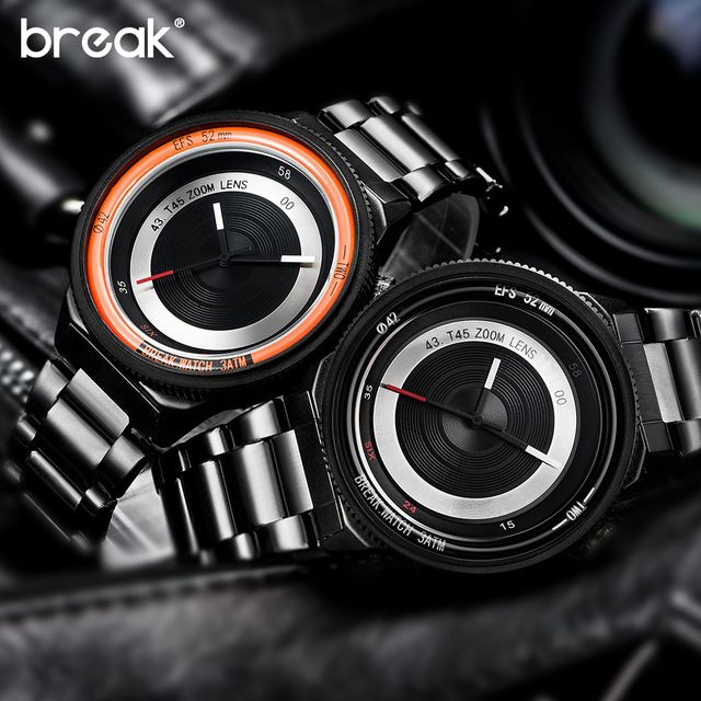 Buy now Break Creative Photographer Original Design Steel Rubber Strap Luxury Men Women Unisex Cool Quartz Fashion Casual Sports Watches just only $21.42 - 22.32 with free shipping worldwide  #menwatches Plese click on picture to see our special price for you
