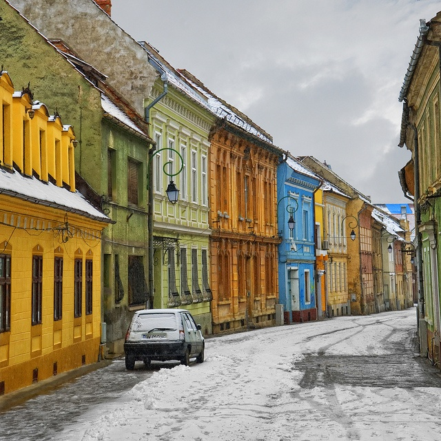 Brasov, Romania - Most of the architecture is so colorful!