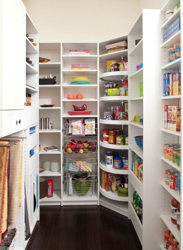 Love the Lazy Susan idea for the corner - a great way to maximize storage.