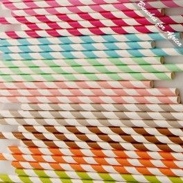 Striped Paper Straws @ Bunches for Africa Online Shop