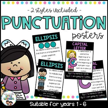 Punctuation Posters: Included in this Punctuation Posters pack are 12 Punctuation Posters suitable for Years 1-6.