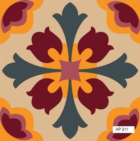 Tecido adesivo - Azulejo português AP211