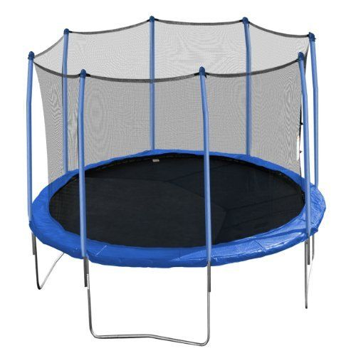 Aura Round Trampoline and Enclosure with Blue Spring Pad, 12-Feet by Aura. $279.99. Aura Trampolines are designed to provide your family with years of jumping fun. Our heavy gauge galvanized steel, padded enclosure poles and spring pads are provided with safety in mind. All soft materials are UV protected to prevent premature fading and discoloration. Our 72 spring design provide the jumper with optimum bounce. With our easy to assemble instructions, you'll be bringing bounci...