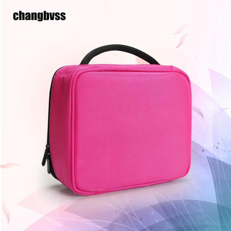 New Water-Proof Portable Make up Bag Women,24x11x22cm Travel Cosmetics Bag Makeup,Professional Makeup Bag,Caixa Organizadora #Affiliate