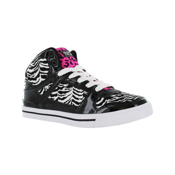 Women's Gotta Flurt Hip Hop VI Sneaker ($45) ❤ liked on Polyvore featuring shoes, sneakers, casual, casual shoes, black and white sneakers, black and white shoes, cushioned shoes, lace up sneakers and gotta flurt