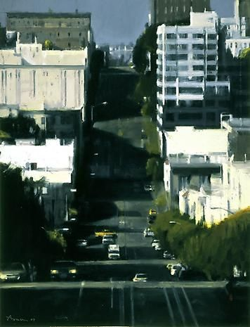 California Street 2007 oil on panel 63 x 48 inches