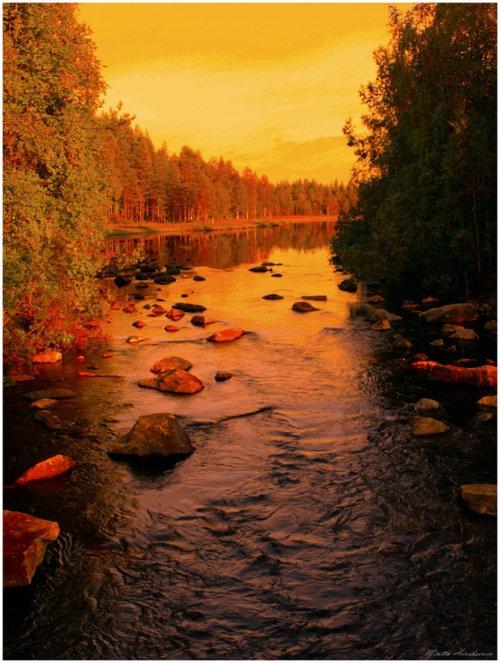 hop, skip and a jump, across a Finnish river.