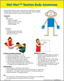 Mat Man teaches Body Awareness and Letter Formation