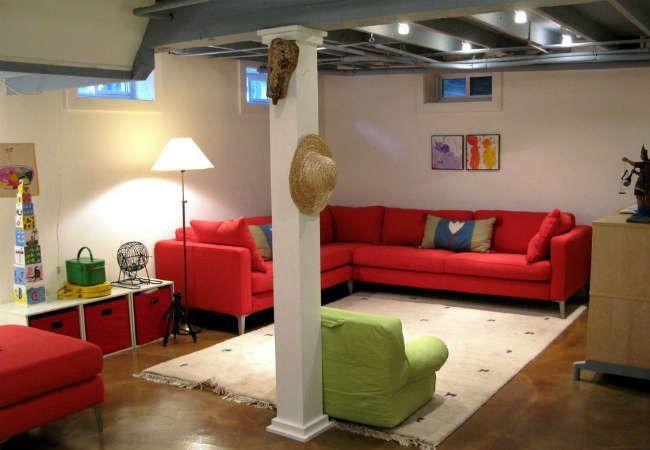 unfinished basement playroom on pinterest garage playroom basement