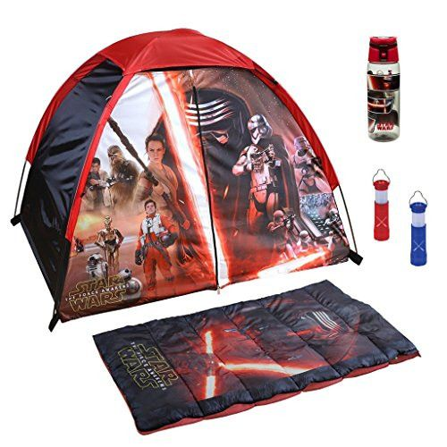 Star Wars The Force Awakens Sleeping Bag, Backpack, Water Bottle, & Flashlight (4 Piece)