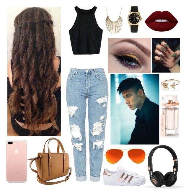 """Love at first site Xx"" by duygumalik ❤ liked on Polyvore featuring beauty, Topshop, adidas, Beats by Dr. Dre, Ray-Ban, Rolex, Jennifer Lopez, EF Collection, Balenciaga and Lime Crime"