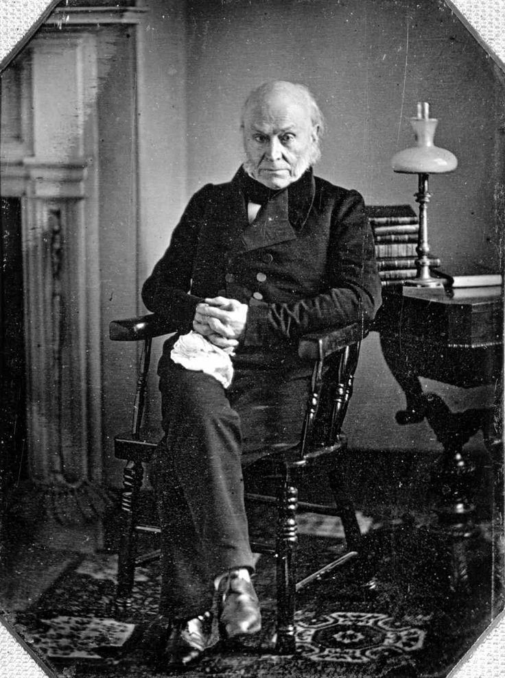 John Quincy Adams (1843). The earliest confirmed photograph of an American President.