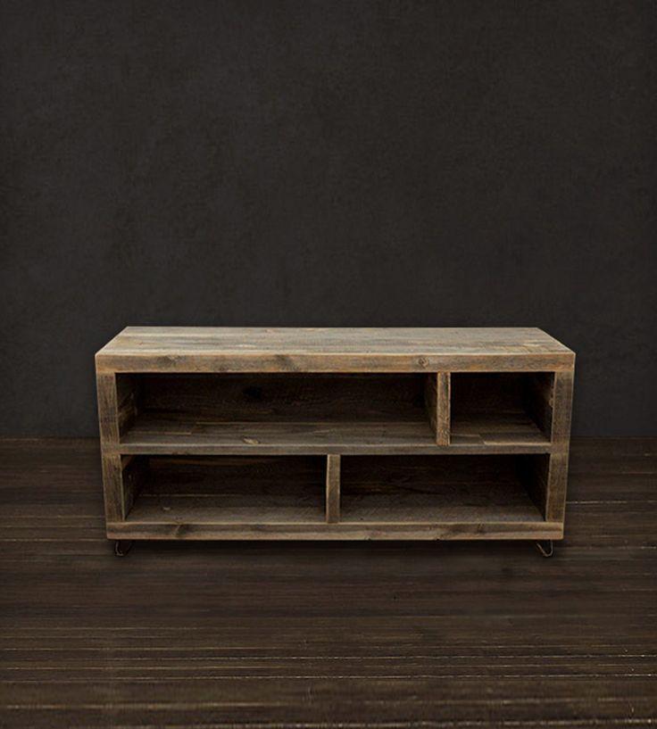 Reclaimed Wood Long Bookshelf | Home Furniture | J W Atlas Wood Company | Scoutmob Shoppe | Product Detail