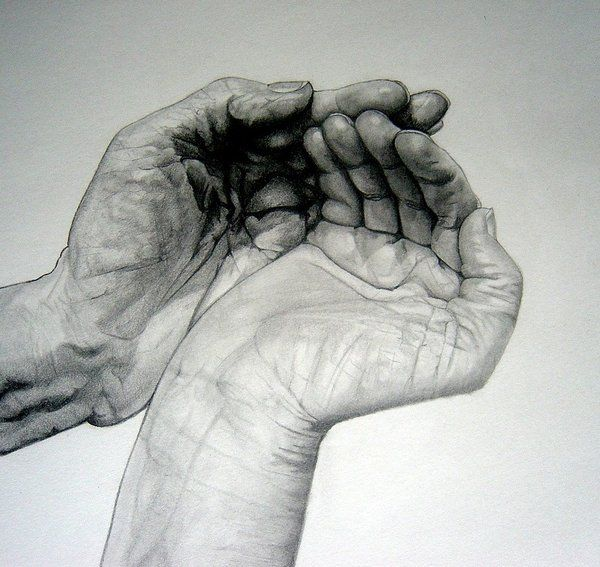 Cupped Hands drawing by ~rE-Fuuused on deviantART