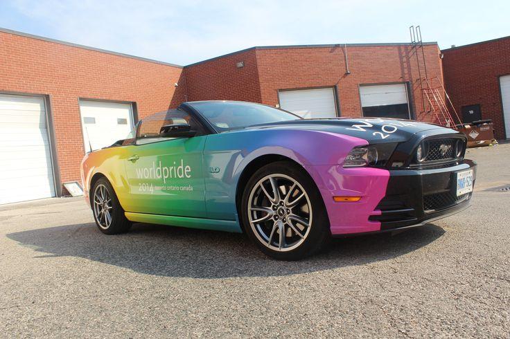 #Mustang #LGBT #LGBTQ #Pride #Wrapped #VehicleWraps #CarWraps