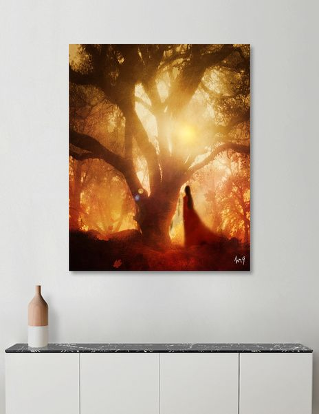Discover «Autumn Song», Numbered Edition Canvas Print by Viviana Gonzalez - From…