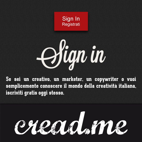 cread.me | sign in