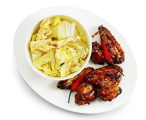 Ailes de poulet piquantes et salade de chou chinois 280kcal p/p