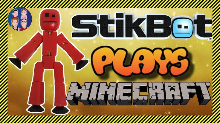 StikBot Plays Minecraft - Stickbot Animation Playing Minecraft Online wi...
