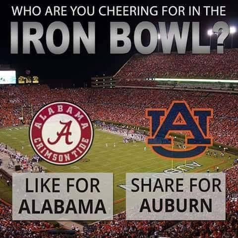 Will you be watching the game on Saturday? #IronBowl #Football #LandsharkPromotions
