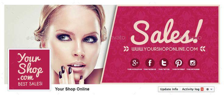 Обложка Facebook для Интернет магазина – Shop Online Sales 14872393