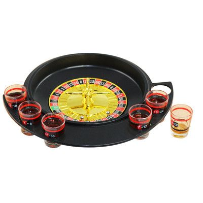 Volar Ideas 9 Piece Roulette Shot Glasses Drinking Game Set