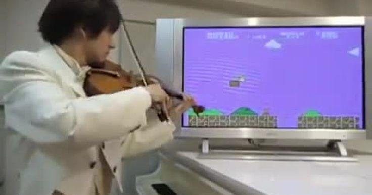 Este sujeto musicaliza con su violín lo que solías jugar de niño ¡Te sorprenderá! #MarioBros