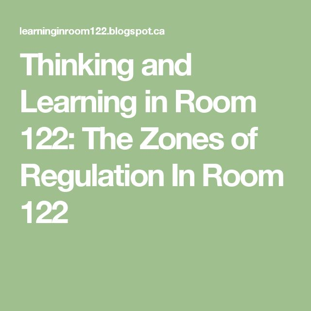 Thinking and Learning in Room 122: The Zones of Regulation In Room 122